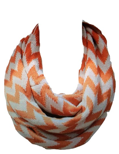 Belle Boutique Belle Women's Crochet Double Layer Chevron Scarf Image 6
