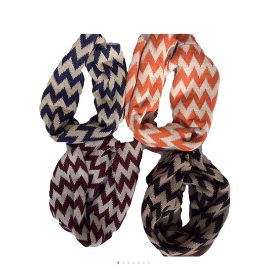 Belle Boutique Belle Women's Crochet Double Layer Chevron Scarf Image 7