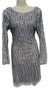 Adrianna Papell Platinum Gatsby Hand Beaded Limited Edition Embroidered Dress