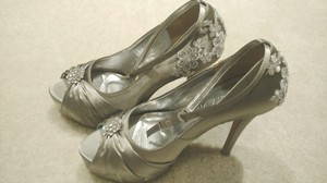 Others Follow Classy Silver Satin Wedding Shoes Wedding Shoes