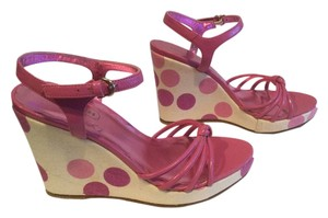 Coach Polka Dots Pink Wedges