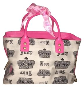 Juicy Couture Satchel in Pink, Black , Silver