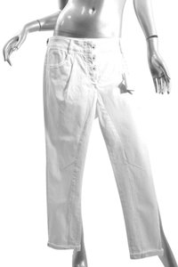 Brunello Cucinelli Cucinelli Denim Stretch Straight Pants Ivory