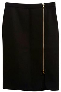 J.Crew Pencil Wool Zipper Skirt Black