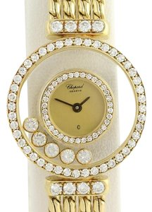 Chopard Chopard Happy Diamonds Wristwatch - 18k Yellow Gold Quartz 1.33ctw