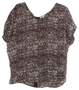 Joie Top Black/white/grey/purple