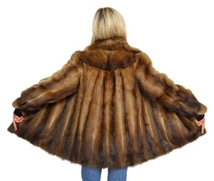 German Furrier Fitch Fur Mink Real Fur Musquash Fur Coat
