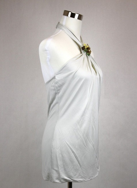 Gucci Womens Brooch Off White Halter Top Image 1