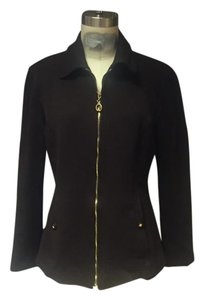 St. John Sport by Marie Gray St. Jacket Couture Wool Jacket Brown Blazer