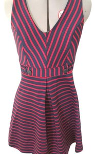 Monteau Los Angeles short dress Red/navy on Tradesy