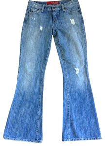 Guess Distressed Flare Leg Jeans-Distressed