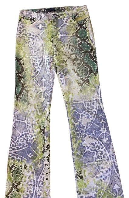 Preload https://img-static.tradesy.com/item/19848274/just-cavalli-lime-green-brown-gray-boot-cut-jeans-size-30-6-m-0-1-650-650.jpg
