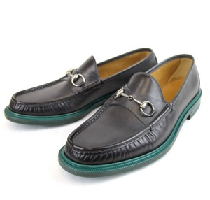 Gucci $630 New Authentic Gucci Men's Leather Horsebit Loafer Moccasin Gray Gucci 9.5/ Us 10.5 245972 1217