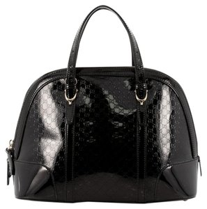 Gucci Top Handle Satchel in Black Patent Leather
