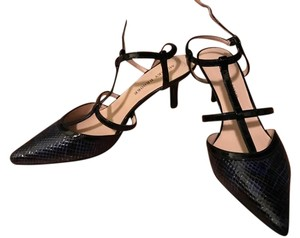 Audrey Brooke Snakeskin dark blue/black Formal