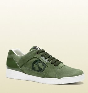 Gucci Suede Lace-up Sneaker W/gg Green Gucci 14 G/ Us 14.5 309457 3708