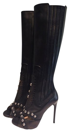Preload https://img-static.tradesy.com/item/19848607/paul-andrew-black-new-studded-tall-leather-bootsbooties-size-us-65-0-1-540-540.jpg
