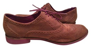 Cole Haan Brogue Oxford Brown overall with Purple accents on interior, laces, and sole Flats