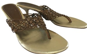 Cole Haan Brown and Gold Formal