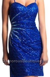 Dave & Johnny Homecoming Cocktail Sequins Dress