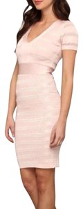 French Connection Blush Bandage Wedding Guest Bodycon Sexy Dress