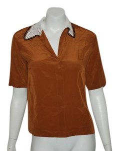 Sandro Top ORANGE BROWN