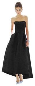 Alfred Sung Ball Gown Party Tea Length Dress