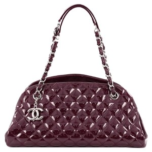 Chanel Leather Satchel in Burgundy