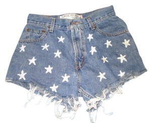 Levi's Cut Off Shorts blue/white