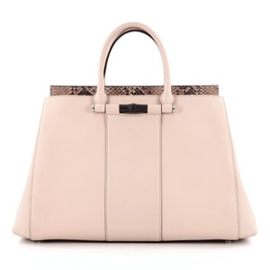 Gucci Leather Python Tote in Pink