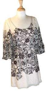 Tracy Reese short dress Cream with black floral pattern on Tradesy