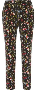 Equipment Silk Patterned Relaxed Pants Black / Floral Multi