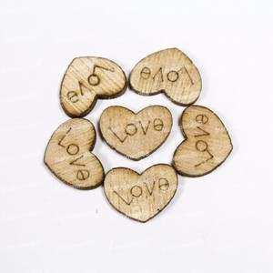 Wooden Heart Table Scatter