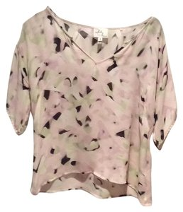 MILLY Top Black, pink, green
