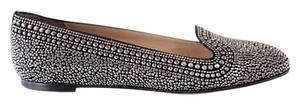 Valentino Studded Leather Black with silver studs Flats