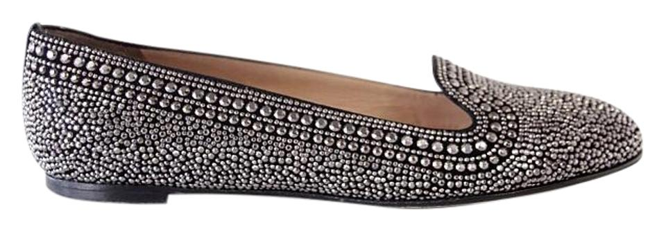 Valentino Black With Silver Studs And 38 5 Flats Size Us 8 5