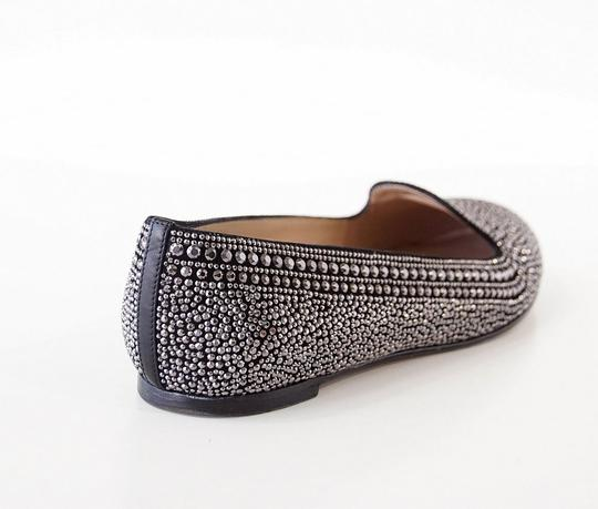 Valentino Studded Leather Black with silver studs Flats Image 2