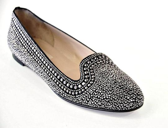 Valentino Studded Leather Black with silver studs Flats Image 3