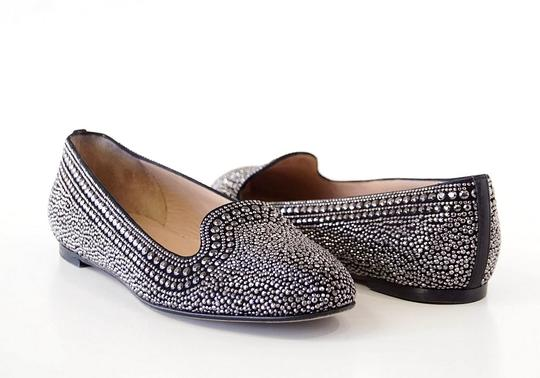 Valentino Studded Leather Black with silver studs Flats Image 4
