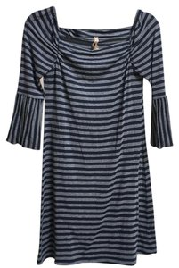 Baily 44 short dress Gray w/ navy blue on Tradesy