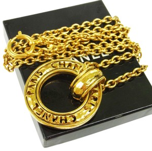 Chanel Chanel Vintage Gold Cut Out Charm Chain Necklace in Box