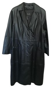 Terry Lewis Leather Removable Lining Trench Coat