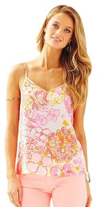 Lilly Pulitzer 100% Silk Floral Resort Top Multi