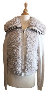 Barneys New York Soft Faux Fur beige Jacket