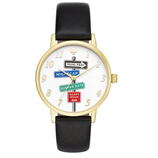 Preload https://img-static.tradesy.com/item/19849608/kate-spade-blackwhitegold-ksw1128-metro-street-signs-leather-band-watch-0-0-540-540.jpg