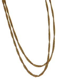 Trifari Trifari Gold Tone Crown Era Long Or Double Wrap Chain Necklace