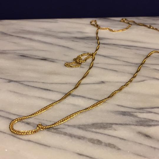Trifari Trifari Gold Tone Crown Era Long Or Double Wrap Chain Necklace Image 1