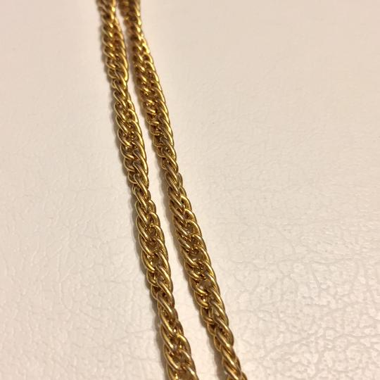 Trifari Trifari Gold Tone Crown Era Long Or Double Wrap Chain Necklace Image 2