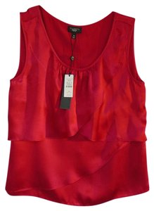 Talbots Silk Sleeveless Casual Top Red