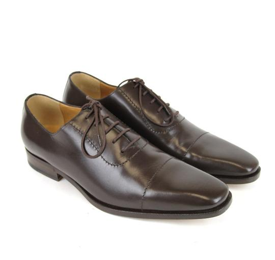 Gucci Brown Leather Lace-up Oxford 12.5/ Us 13.5 206625 2140 Shoes Image 2